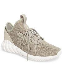 lyst adidas tubulare doom sock primeknit scarpe da ginnastica in bianco per gli uomini.