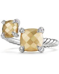 David Yurman - Chatelaine Bypass Ring With Diamonds - Lyst