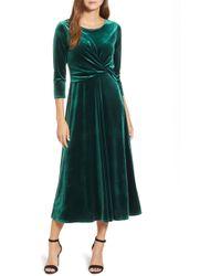 Chaus - Velvet Midi Dress - Lyst