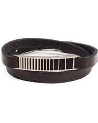 George Frost - Utopia Id Leather Wrap Bracelet - Lyst