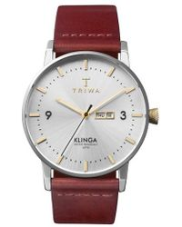 Triwa - Gleam Klinga Leather Strap Watch - Lyst