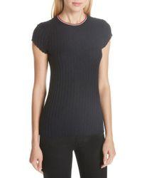 Joie - Filana B Ringer Rib Knit Short Sleeve Sweater - Lyst