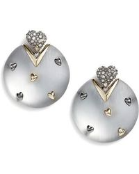 Alexis Bittar - Crystal Heart & Lucite Drop Earrings - Lyst