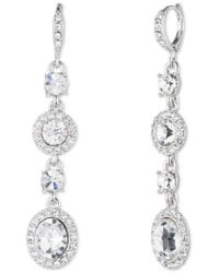 Givenchy - Crystal Linear Drop Earrings - Lyst