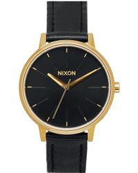 Nixon - 'the Kensington' Leather Strap Watch - Lyst