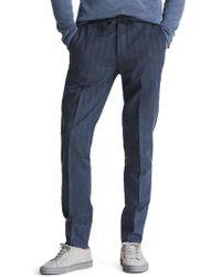 Bonobos | Flat Front Cotton & Linen Blend Trousers | Lyst