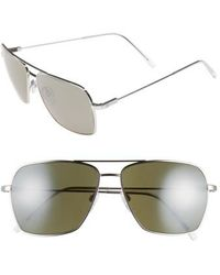 Electric - 'av2' 59mm Navigator Sunglasses - Platinum/ Grey/ Silver Chrome - Lyst