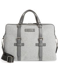 0bd6387535997 Lyst - Ted Baker Merman Faux Leather Briefcase - in Black for Men