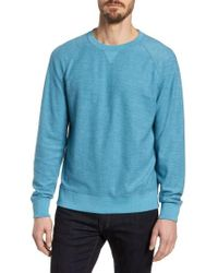 Grayers - Portofino Crewneck Cotton Blend Sweatshirt - Lyst