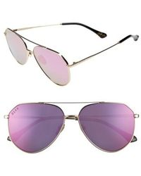 DIFF - X Jessie James Decker Dash 61mm Polarized Aviator Sunglasses - Lyst