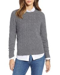 Nordstrom - 1901 Cashmere Cable Sweater - Lyst