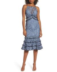 Keepsake - Catch Me Ruffle Lace Sheath Dress - Lyst