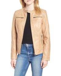 Lamarque - Trapunto Detail Racer Jacket - Lyst