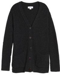 Velvet By Graham & Spencer   Textured Button Cardigan   Lyst