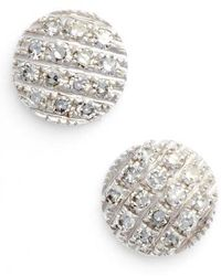 Dana Rebecca | 'lauren Joy' Diamond Disc Stud Earrings | Lyst