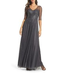 La Femme - Waterfall Embellished Gown - Lyst