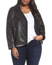 Bernardo - Kirwin Leather Moto Jacket - Lyst