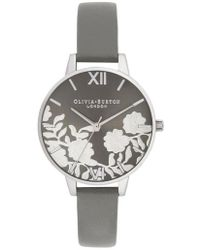 Olivia Burton - Lace Leather Strap Watch - Lyst