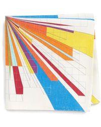 Eton of Sweden - Burst Geometric Linen & Silk Pocket Square - Lyst