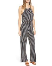 RVCA - Hush Stripe Jumpsuit - Lyst