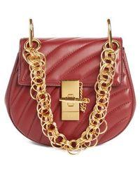 Chloé - Mini Drew Bijoux Leather Shoulder Bag - Purple - Lyst