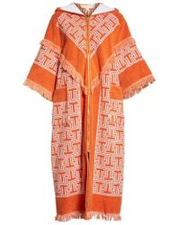 Tory Burch - Tile T Terry Coat - Lyst