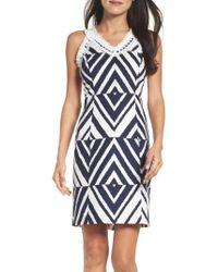 Taylor Dresses | Texture Sheath Dress | Lyst