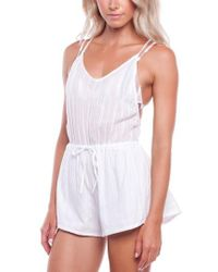 Rhythm - Daydreamer Cover-up Romper - Lyst
