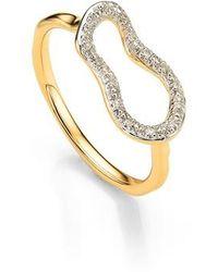 Monica Vinader | Riva Mini Pod Vermeil Diamond Ring | Lyst