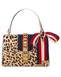 Gucci - Small Sylvie Genuine Calf Hair Top Handle Bag - - Lyst 7b2d93cdc24ae