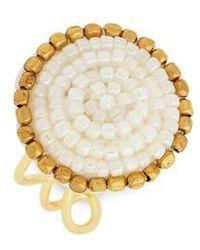 Panacea - Seed Bead Circle Ring - Lyst