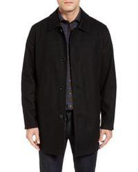 Cole Haan - Cole Haan Reversible Wool Blend Overcoat - Lyst