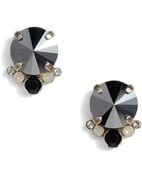 Sorrelli - Regal Crystal Stud Earrings - Lyst