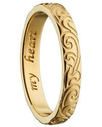 Monica Rich Kosann - My Heart 18k Gold Poesy Ring Charm - Lyst