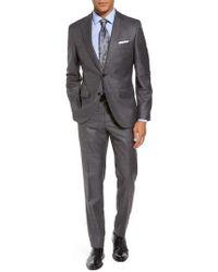 BOSS - Johnstons/lenon Trim Fit Solid Wool Blend Suit - Lyst