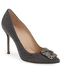 Manolo Blahnik - 'hangisi' Jeweled Pump - Lyst