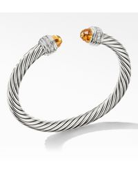David Yurman - Cable Classics Bracelet With Semiprecious Stones & Diamonds - Lyst