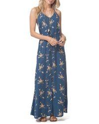 Rip Curl - Malia Floral Print Maxi Dress - Lyst