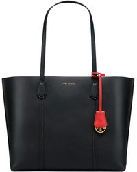 42b19df308 Tory Burch 'perry' Leather Tote in Blue - Lyst
