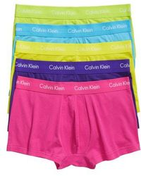 CALVIN KLEIN 205W39NYC - 5-pack Stretch Cotton Low Rise Trunks, Pink - Lyst