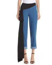 Hellessy - Romeo Silk Panel Crop Jeans - Lyst