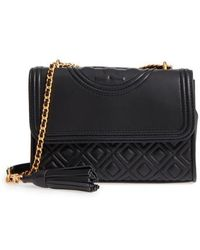 Tory Burch   Small Fleming Leather Convertible Shoulder Bag   Lyst
