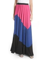 Tracy Reese - Colorblock Maxi Skirt - Lyst