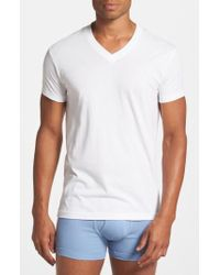 2xist | Pima Cotton V-neck T-shirt | Lyst