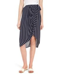 Billabong - So Right Stripe Faux Wrap Skirt - Lyst