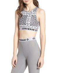 Converse - X Miley Cyrus Bandana Print Sports Bra - Lyst