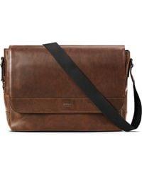 Shinola - Slim Leather Messenger Bag - Lyst