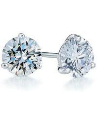 Kwiat - 1.25ct Tw Diamond & Platinum Stud Earrings - Lyst