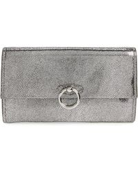 Rebecca Minkoff - Jean Metallic Leather Clutch - - Lyst