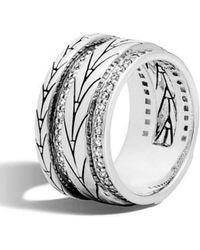 John Hardy | Diamond Band Ring | Lyst